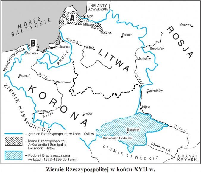 Ziemie Rzeczypospolitej w końcu XVII wieku